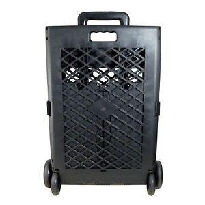 Portable Rolling Shopping Cart Basket Storage Folding Wheel Utility Grocery NEW