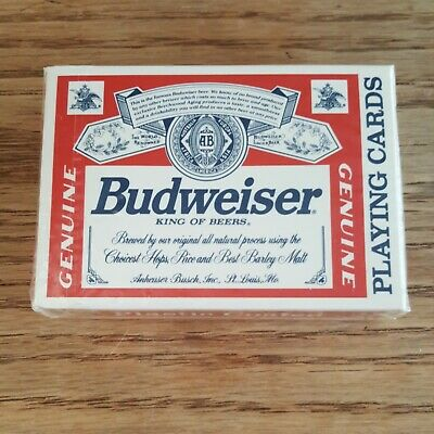 Vintage Budweiser King Of Beers Playing Cards Sealed The US Playing Card Co 350