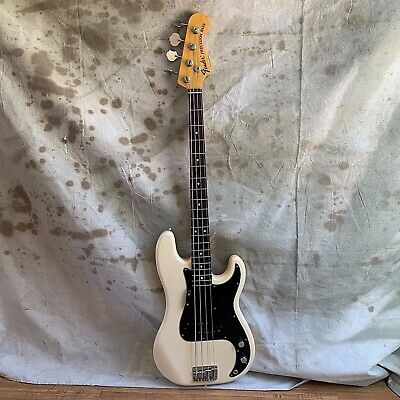 Used Fender 70's Reissue Precision Bass Guitar P-Bass CIJ 2002 Olympic White