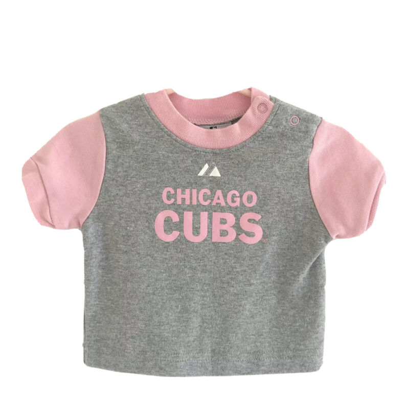 Chicago Cubs Infant 6-9 Months Girl Tee T-shirt Majestic MLB Official Merch