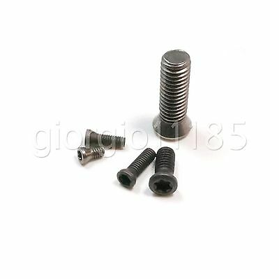Us Stock 10x M3.5 X 9mm Insert Torx Screw For Replaces Carbide Inserts Cnc Lathe