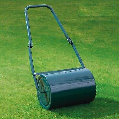 Garden Gear Lawn Roller 30L Galvanised Steel Scraper Bar Drum Water Sand Filled