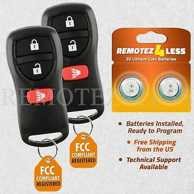 2 For 2004 2005 2006 2007 2008 2009 Nissan Quest 3b Keyless Entry Remote Key Fob