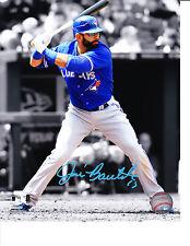 Toronto Blue Jays Jose Bautista Spotlight Signed MLB Baseball 8x10 Photo Auto