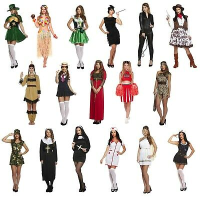 Female Adult Fancy Dress Up Outfits Various Hen Party Party Outfit Freshers NEW ()