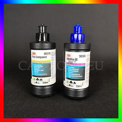 3M Ultrafina SE Anti-Hologramm 50383 + 3M Fine Compound 09375 Polituren Set NEU (Ultra Fine Politur)