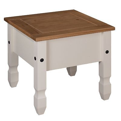 Mercers Furniture Corona Painted Lamp Table - Cream / Pine