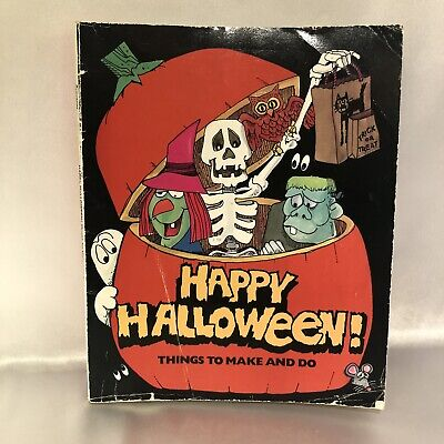 Making Things For Halloween (Vintage Happy Halloween Things To Make And Do Activity Book For Kids)
