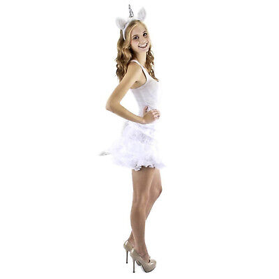 Unicorn Costume Kit White Horse Magic Horn Fantasy Faire Adult Womens](White Unicorn Costume)