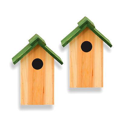 2x Nistkasten Vogelhaus Vogelhäuschen Nisthöhle Nisthilfe Meisen Meisenkasten