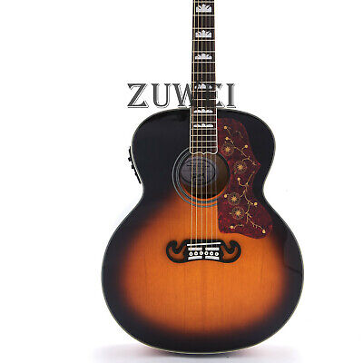 6 Strings Jumbo J200C Electric Acoustic Guitar Fishman 101 Solid Spruce Top