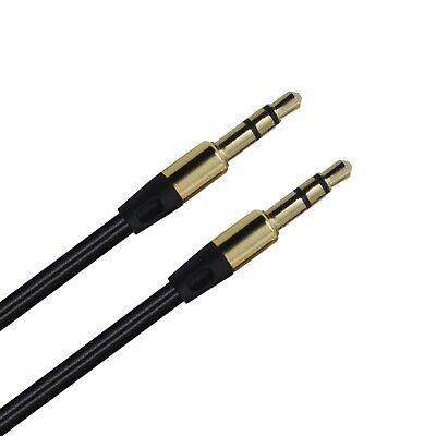 Schwarz 3,5mm Audio AUX Klinke Kabel für TaoTronics Boom X Stereo
