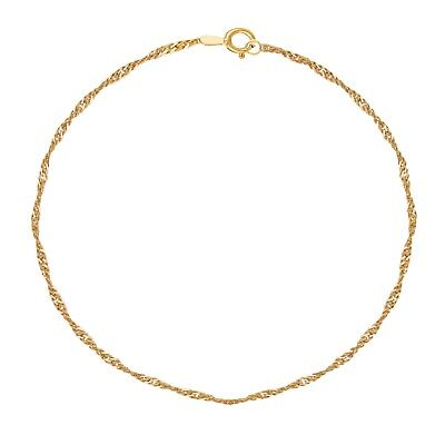10K Gold Singapore Anklet Ankle Bracelet (Yellow Gold  Or White Gold) Yellow Gold Singapore Anklet