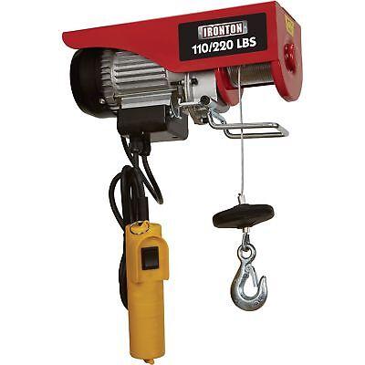 Ironton Double Line Electric Hoist- 110lb Single Line220lb Double Line Lift Cap