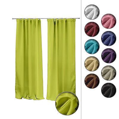 Verdunklungsgardine Gardine Vorhang Blickdicht mit Kräuselband 140 x 245cm