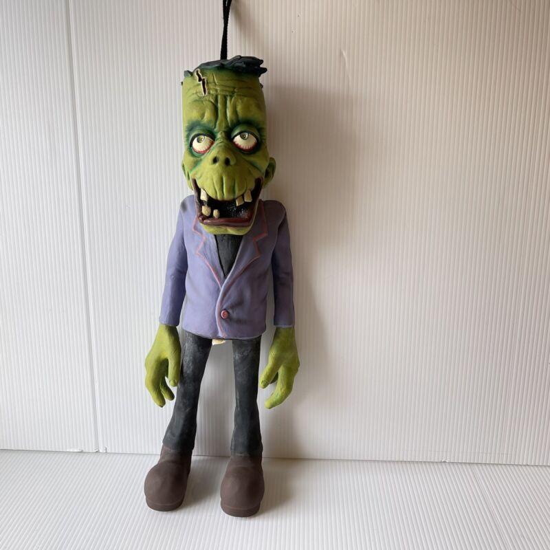 """Vintage Paper Magic Hanging Latex Rubber Frankenstein Halloween Decor Prop 22"""""""