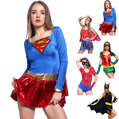 Supergirl Damen-kostüm (Damen Superheldin Supergirl TV-Serie Comic Karneval Fasching Heldin Herokostüm)