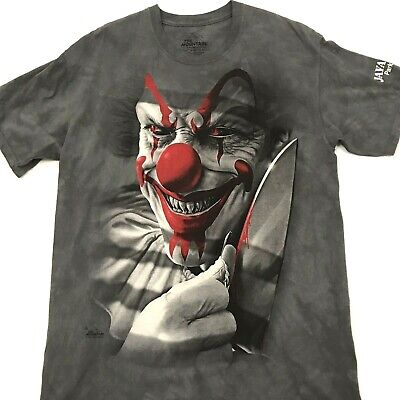 Mountain Short Sleeve Tee (The Mountain Scary Clown T-Shirt Short Sleeve Tee Gray Mens Size Large. H2)