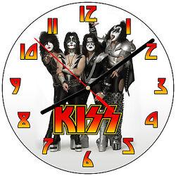 8 WALL CLOCK - KISS #1 Band Rock Music - Kitchen Office Bathroom Bar Bedroom