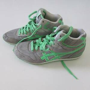 Womens ONITSUKA TIGER Shoes - Grey and Green - Womens size US 7 Fairfield Fairfield Area Preview