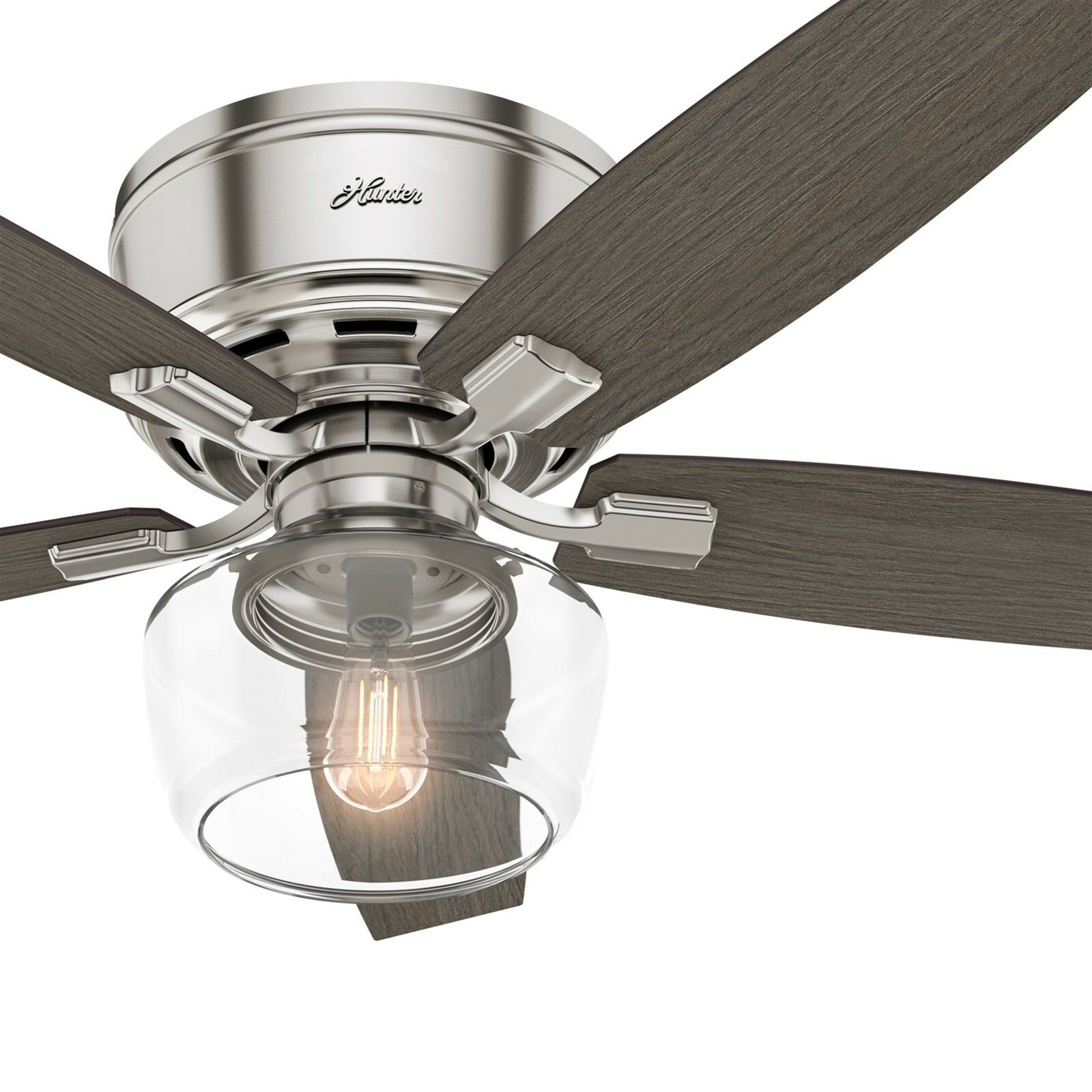 Low Profile Brushed Nickel Ceiling Fan