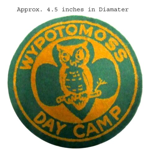 WYPOTOMOSS CAMP Patch OFFICIAL Girl Scouts  FELT w/Canvas Back Towanda PA