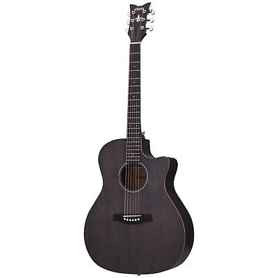 Schecter Deluxe Acoustic Satin See Thru Black SSTBLK Guitar B-stock