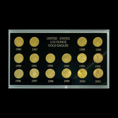 1986-2001 $5 American Gold Eagle Set - Free Shipping USA