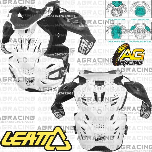 Leatt Adult 3.0 Fusion White Neck Brace Body Chest Back Protector Large XL New