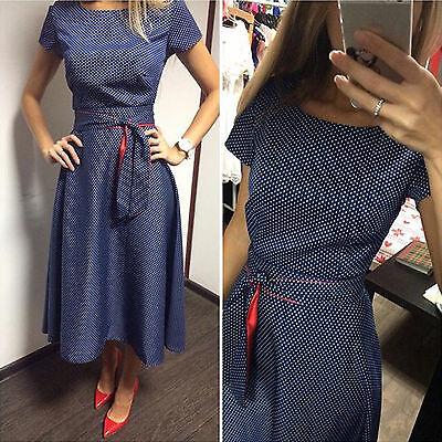 Damen Rockabilly Petticoat Sommerkleid 50er Partykleid Abendkleid Tunika Kleider