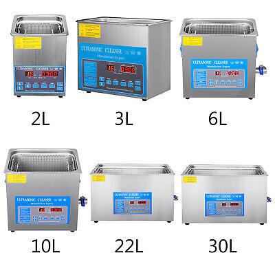 Vevor 30l Ultrasonic Cleaner 2840khz Cleaning Equipment Industry Heater Wtimer