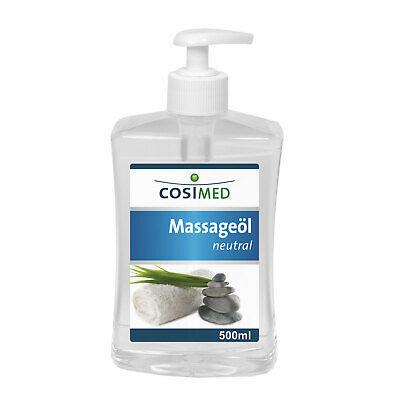 cosiMed Massageöl neutral 500 ml Dosierspender | Massage Lotion Wellness Neu+OVP