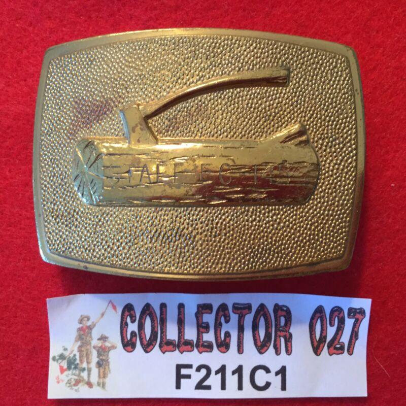 Boy Scout Woodbadge Belt Buckle Engraved STAFF EC 145