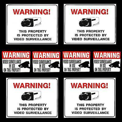 Lot Of Security Surveillance Video Camera System Warning Signswindow Stickers