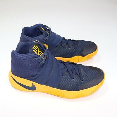 Nike Kyrie 2 Cavs Men Basketball Shoes Navy Yellow 819583-447 Size 9