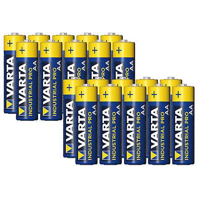 20 x Varta AA Industrial Mignon LR06 Batterie | 2600mAh 1,5V Alkaline|...