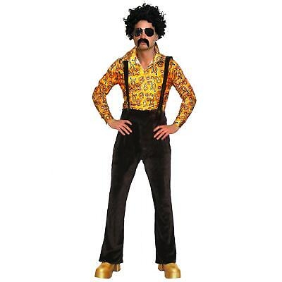Fancy Dress Men's Shirt 60s 70s Retro Hippie Hippy Costume Outfit Romper suit](60s Outfit Men)