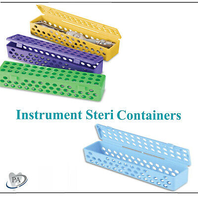 Dental Tattoo Instrument Steri Container Case Fully Autoclave Medical Pick Color