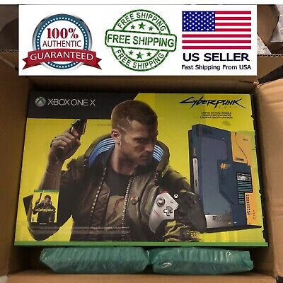 Xbox One X Cyberpunk 2077 1TB Limited Edition Console FREE SHIPPING