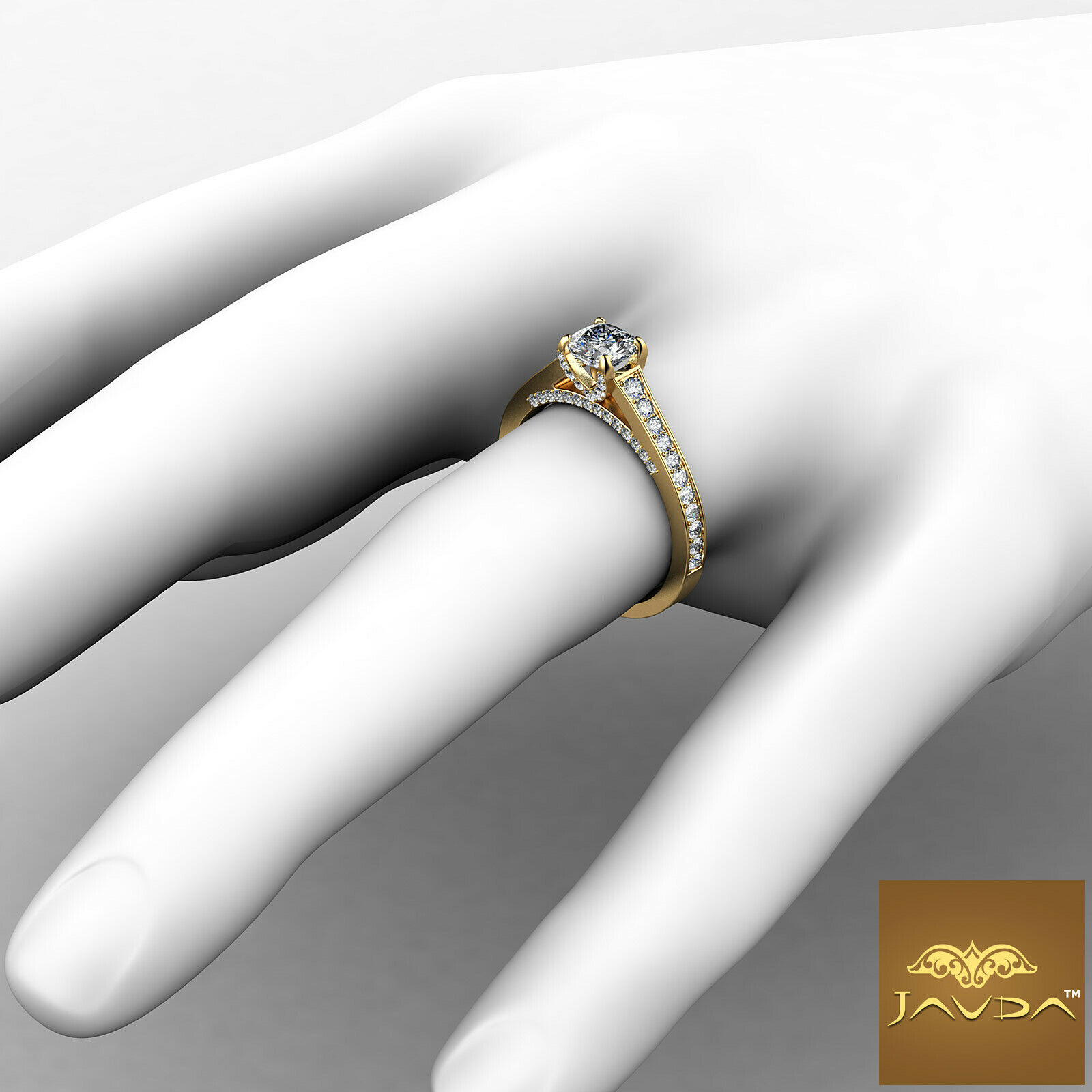 Cushion Cut Diamond Flawless Engagement GIA G VVS2 Pave Set Ring Platinum 1.25Ct 7