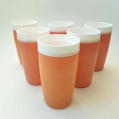 Vintage Set 6 BOLERO Therm-O-Ware Pastel Mid Century Plastic Tumblers Cups