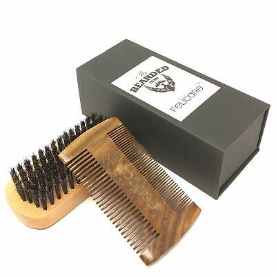 EMPTACSPLY Beard Brush and Comb Set for Men | Handmade Pearw