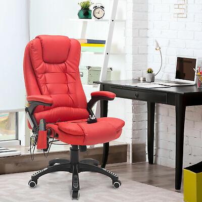 Homcom Reclining Pu Leather Home Office Computer Swivel Chair Massage High Back