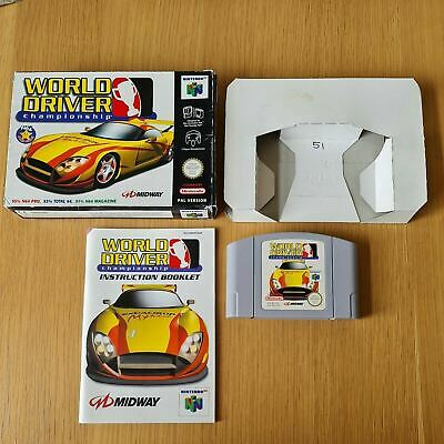 WORLD DRIVER CHAMPIONSHIP NINTENDO 64 N64 PAL GAME BOXED COMPLETE WITH MANUAL