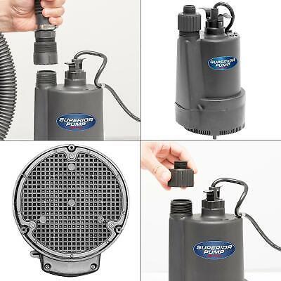 Submersible Water Utility Pump 1/3 HP Thermoplastic Sump Gar