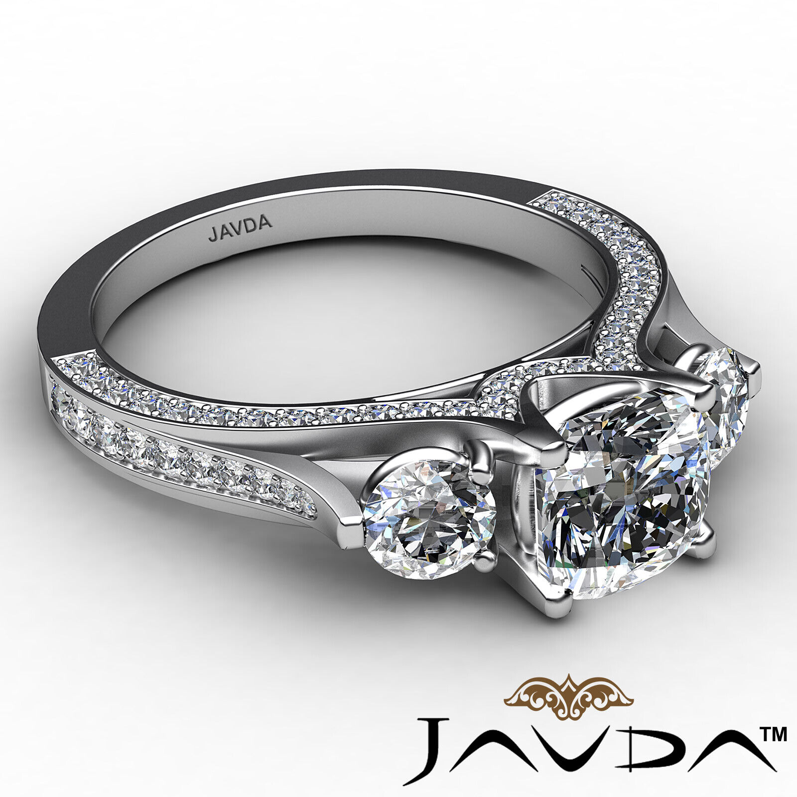 Cushion Diamond Engagement Ring Certified by GIA E Color & VVS1 clarity 2.1 ctw 6