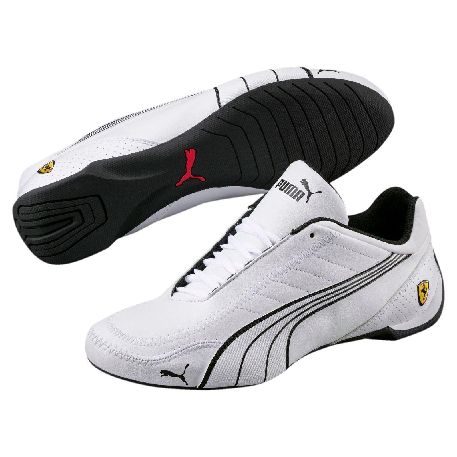 6d8c358d9f3970 Neu Herren Puma Ferrari Future Karting Auto Motorsport Schuhe Weiß Schwarz