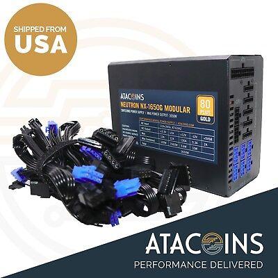 1600w 110v - 240v 80plus GOLD  Modular Power Supply PSU ETC, BITMAIN S9/D3/L3+