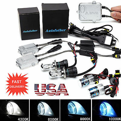 55W HID Xenon Ballasts Conversion Kit Bulbs For 9005 9006 H3 H4 H7 H8 H9 H11 -
