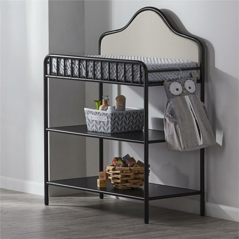 Piper Metal Changing Table, Black
